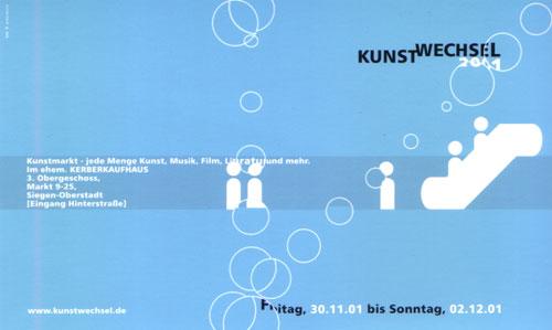 Kunstwechsel 2001 im ehem. Kerberkaufhaus