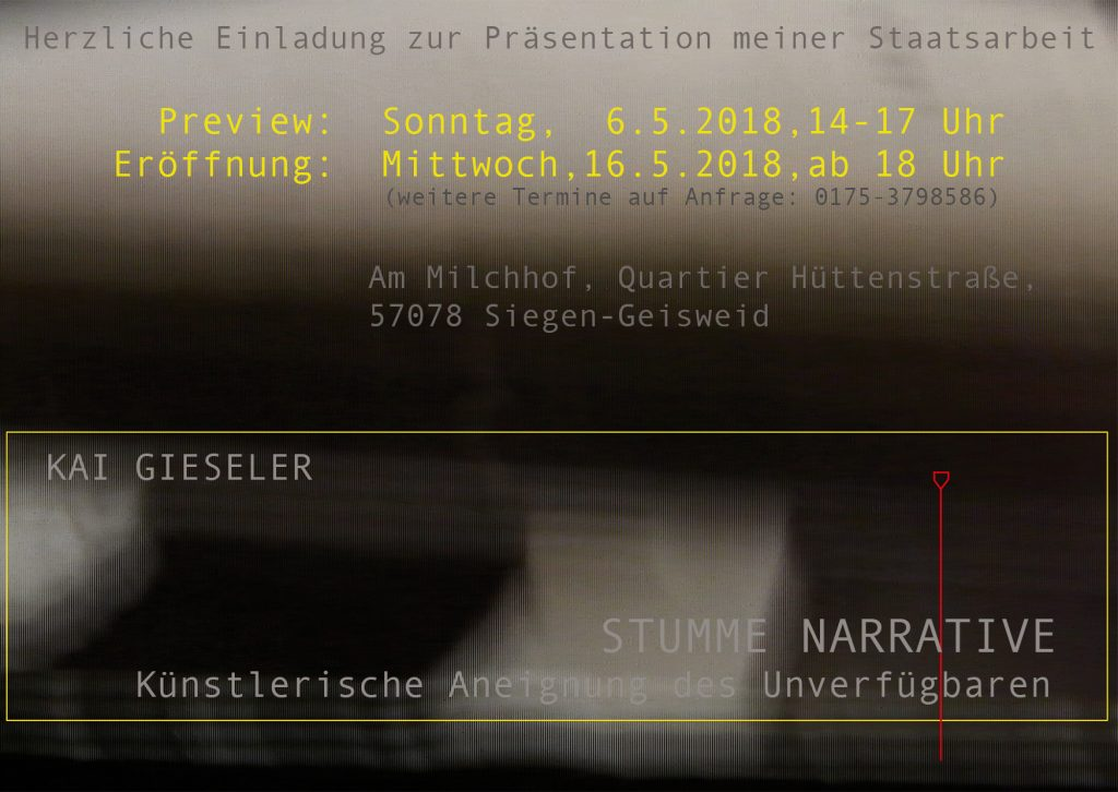 gruppe 3/55 Ausstellung Einladung Staatsarbeit